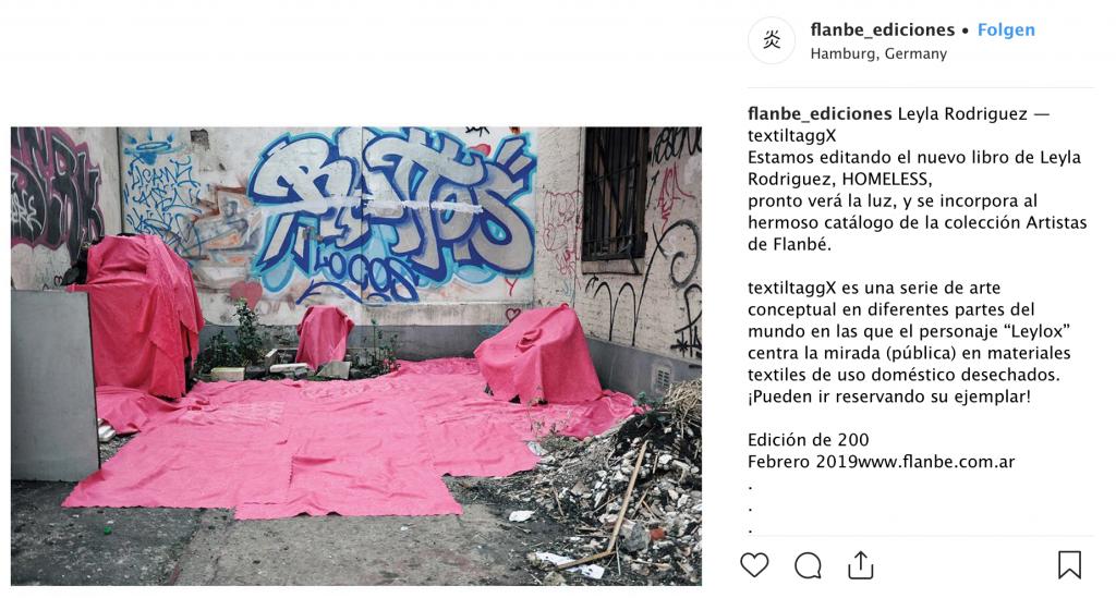 flanbe_ediciones Leyla Rodriguez — textiltaggX