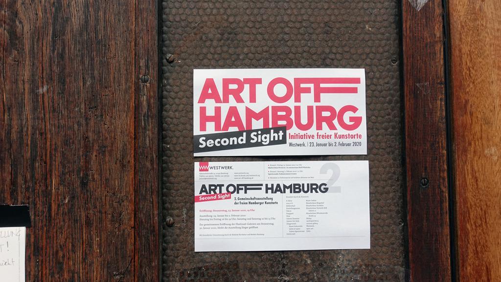 ART OFF HAMBURG | Second Sight | 24. Januar bis 2. Februar 2020 Dienstag bis Freitag 16–19 Uhr | Samstag und Sonntag 12–15 Uhr WESTWERK, Hamburg/ GERMANY