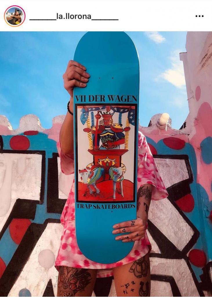 """TAROT"" 2021 | Leyla Rodriguez X Trap Skatebords Collaboration, leyla rodriguez"