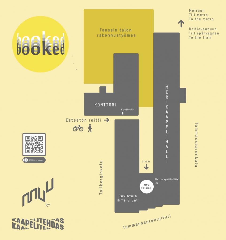 Event schedule for Monday, 4.10.2021, MUU Helsinki Contemporary Art Centre presents:  BOOKED Artists' Book Fair 1 – 9 October 2021
