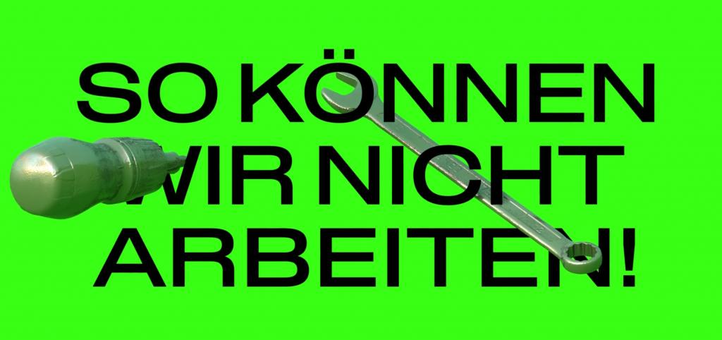 Herzliche Einladung zur Demo-Info-Rundgang SO KÖNNEN WIR NICHT ARBEITEN! am Freitag den 11.9. um 16 Uhr in Rothenburgsort. SO KÖNNEN WIR NICHT ARBEITEN! wird ein bunter, performativer, als auch informativer Rundgang entlang der Kultur- und Kunstinitiative