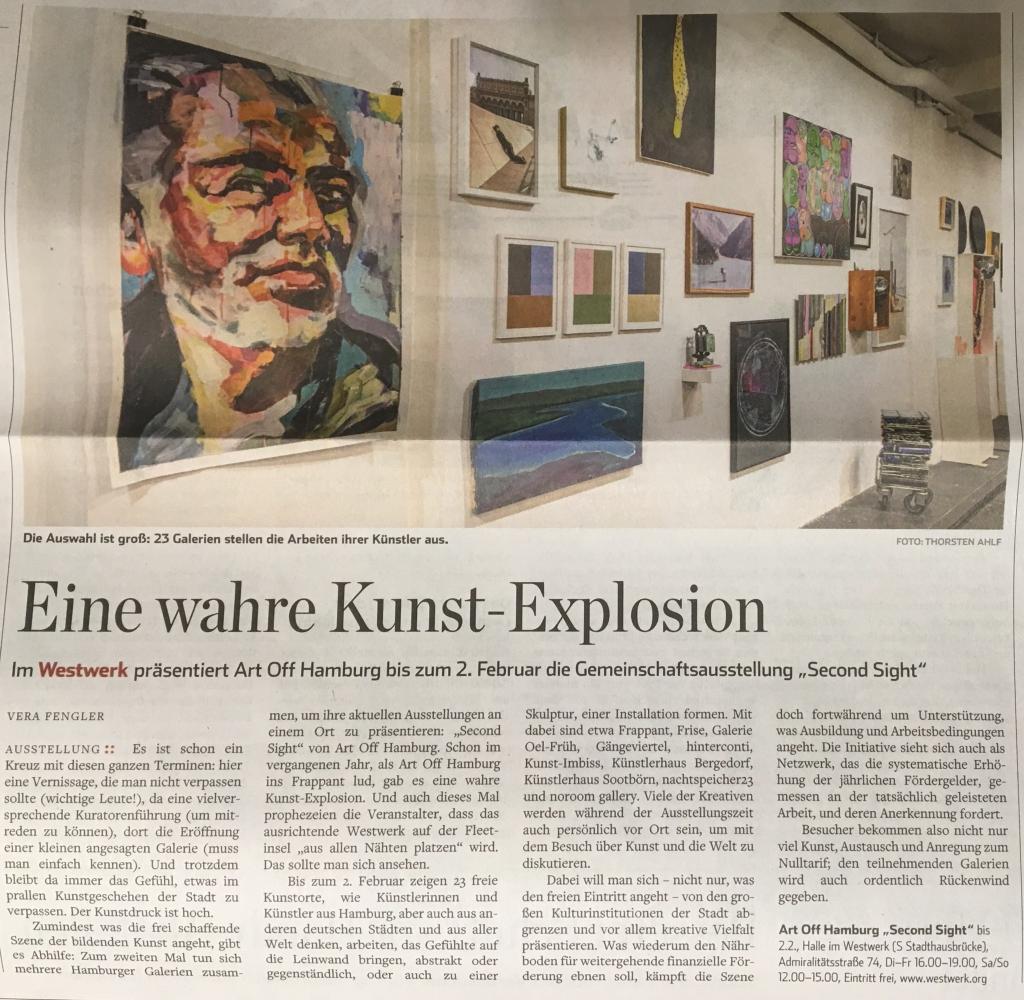 ART OFF Hamburg/ Hamburger Abendblatt 28.01.2020