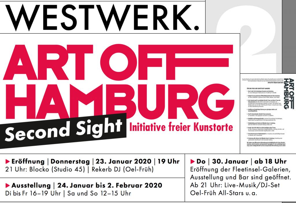ART OFF Hamburg/ Eröffnung der Fleetinsel-Galerien | Do | 30. Januar 2020 ab 21 Uhr | Live-Musik: A100 | DJ-Set: Oel-Früh All-Stars Eintritt frei