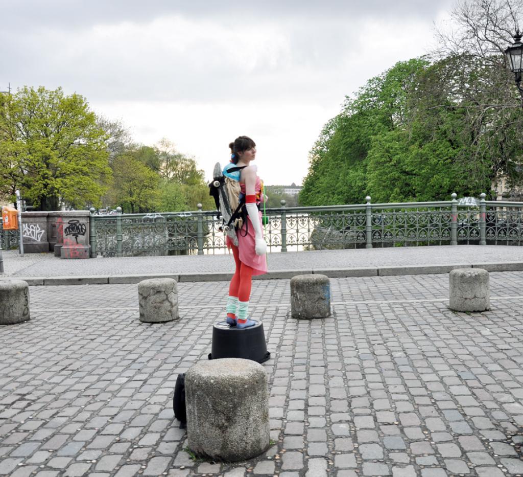 wear is art, leyla rodriguez, fashion art, berlin exhibition, public happening