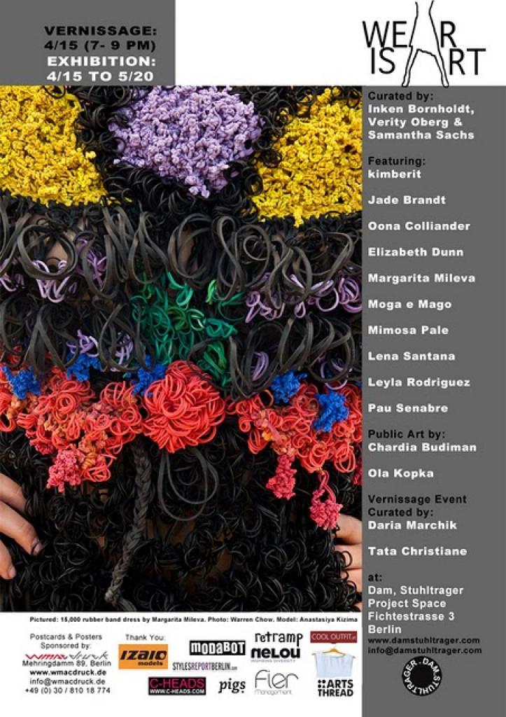 leyla rodriguez, exhibition, berlin, fashion art, garment art, isle of lox