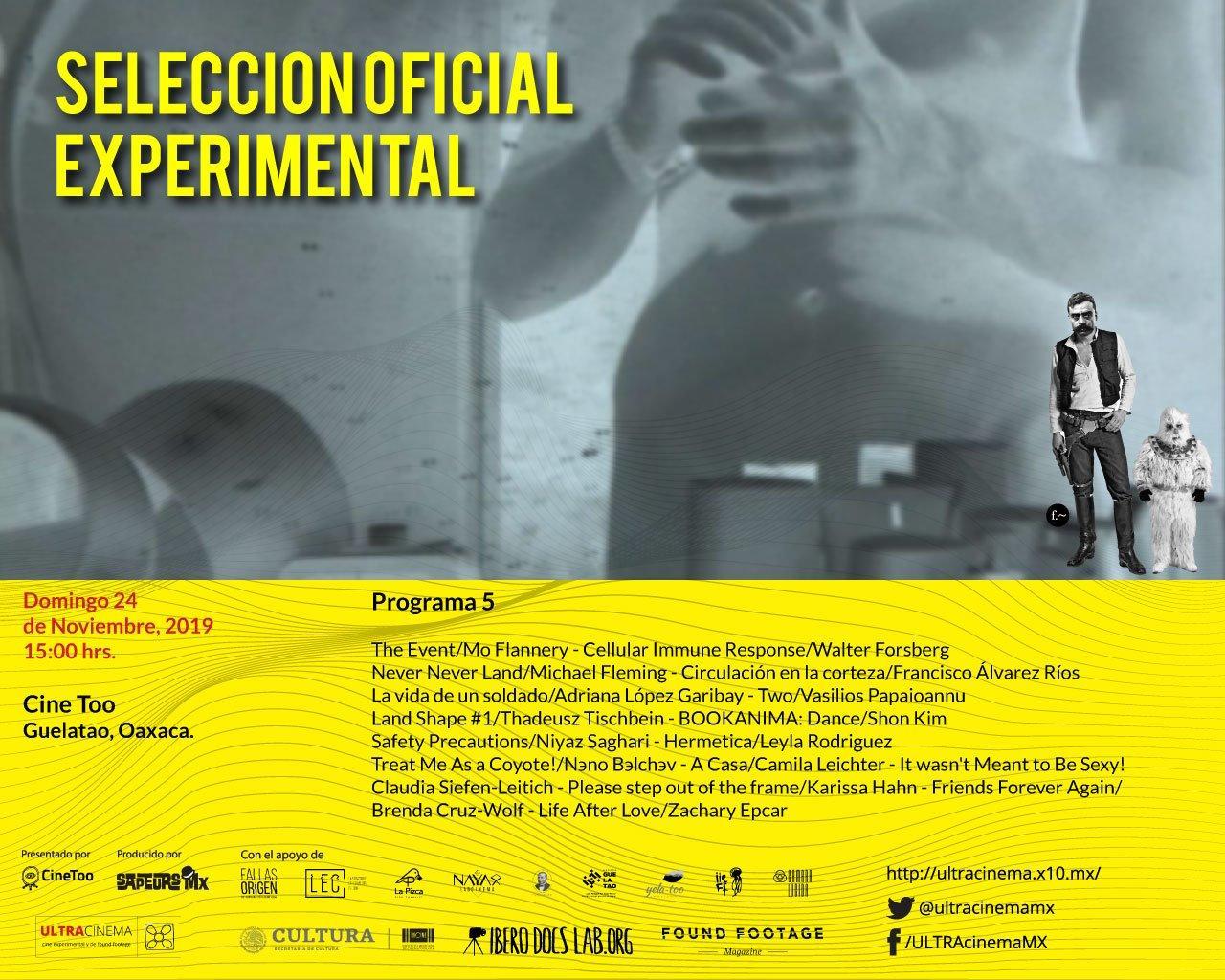 Hermetica @ the  ULTRAcinema 2019 Cine Experimental y Found Footage/ 24.11.2019 15:00 Cine Too, Guelatao, Oaxaca/ MEXICO