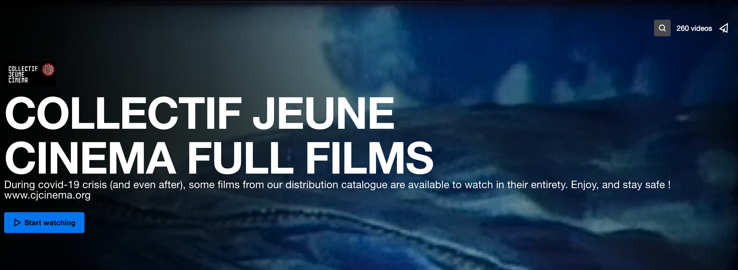 COLLECTIF JEUNE CINEMA FULL FILMS During covid-19 crisis (and even after), some films from our distribution catalogue are available to watch in their entirety. Enjoy, and stay safe ! www.cjcinema.org